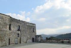 Ruina domy Agropoli wioska, Włochy Fotografia Royalty Free
