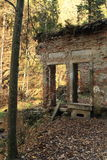 Ruina en bosque imagen de archivo