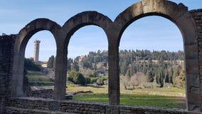 Ruina en Fiesole cerca de Florencia fotografía de archivo libre de regalías