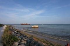 Ruina en la orilla del Mar Negro Imágenes de archivo libres de regalías
