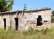 Ruina en un pueblo fantasma de Spainsh Imágenes de archivo libres de regalías