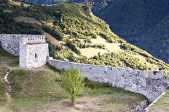 Ruina hermosa del castillo Fotos de archivo libres de regalías