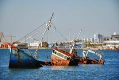 Ruina histórica grande de la nave del español Fotos de archivo