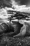 Ruina industrial Fotos de archivo libres de regalías