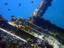 Ruina Islas Vírgenes de la nave, del Caribe Foto de archivo