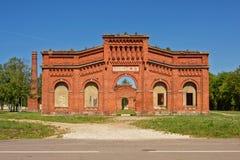 Ruina Karosta Morski port Manege, frontowa fasada Obraz Royalty Free