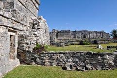 Ruina maya de Tulum México Foto de archivo libre de regalías