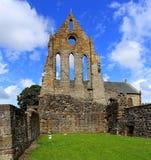 Ruina medieval de la abadía, Kilwinning, Ayrshire del norte Escocia Fotos de archivo libres de regalías