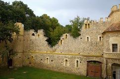 Ruina medieval de un castillo Foto de archivo