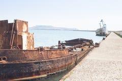 Ruina oxidada amarrada Fotos de archivo