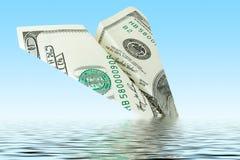 Ruina plana del dinero Imagen de archivo libre de regalías