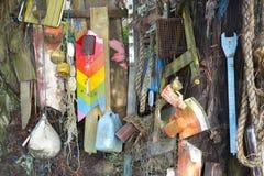 Ruina recuperada de la playa imagen de archivo libre de regalías