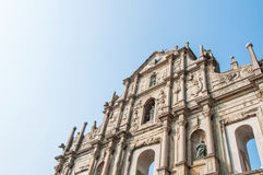 Ruina Saint Paul kościół Obrazy Royalty Free