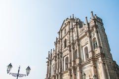 Ruina St Paul kościół Fotografia Royalty Free