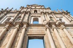 Ruina St Paul kościół Obrazy Stock