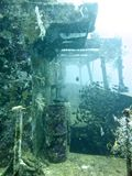 Ruina subacuática de la nave Imagenes de archivo