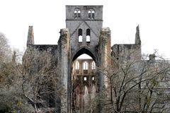 Ruina vieja de la abadía en Lucerna Francia Imágenes de archivo libres de regalías