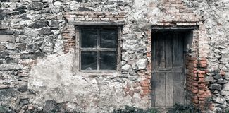 Ruina vieja de la casa fotografía de archivo