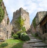 Ruina vieja Gosting de la torre del castillo Fotos de archivo libres de regalías