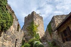 Ruina vieja Gosting de la torre del castillo Imágenes de archivo libres de regalías