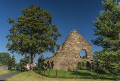 Ruina węglowy steelworks w Kovarska wiosce zdjęcie stock