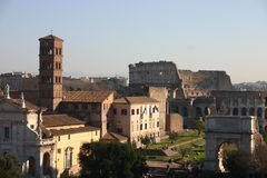 ruinach rzymu Obrazy Stock