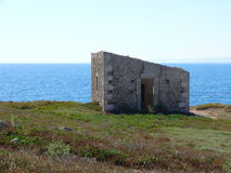 Ruinas abandonadas del faro Fotografía de archivo