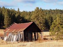 Ruinas aherrumbradas del granero Fotos de archivo
