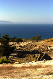 Ruinas antiguas de Kamiros - Rodas Fotos de archivo