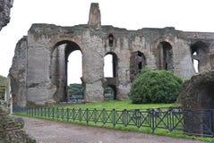 Ruinas antiguas de la colina de Palatine Foto de archivo libre de regalías