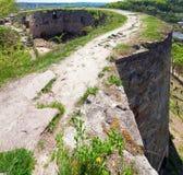 Ruinas antiguas de la fortaleza Foto de archivo libre de regalías