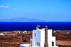Ruinas antiguas de la isla intermedia de Spinalonga del hospital cerca de Creta en Grecia Imagenes de archivo