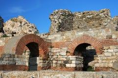 Ruinas antiguas de la pared Fotografía de archivo