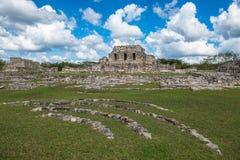 Ruinas antiguas de Mayapan, Yucatán, México fotos de archivo