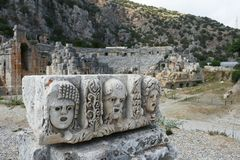 Ruinas antiguas de Mira, Turquía imagen de archivo libre de regalías