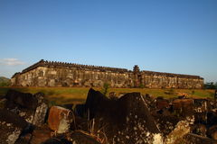 Ruinas antiguas de Ratu Boko Imagenes de archivo