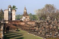 Ruinas antiguas de Tailandia en Sukothai fotos de archivo