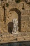 Ruinas antiguas del chalet de los romanos en Caesarea Israel fotografía de archivo libre de regalías