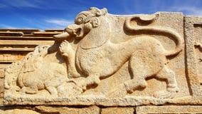 Ruinas antiguas del templo. Hampi, la India. Imagen de archivo libre de regalías