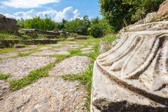 Ruinas antiguas Dion, Pieria, Grecia Fotos de archivo libres de regalías