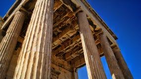 Ruinas antiguas en acrópolis Imagen de archivo libre de regalías
