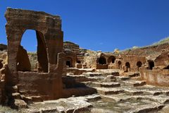 Ruinas antiguas en Dara imagen de archivo libre de regalías