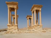 Ruinas antiguas en el Palmyra, Siria Imagen de archivo libre de regalías