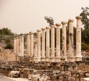 Ruinas antiguas en el viaje de Israel Foto de archivo libre de regalías