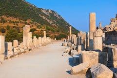 Ruinas antiguas en Ephesus Turquía Imagen de archivo libre de regalías
