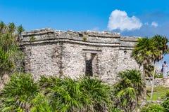 Ruinas antiguas en Tulum, México Foto de archivo libre de regalías