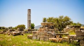 Ruinas antiguas, Heraion, Samos, Grecia Foto de archivo libre de regalías