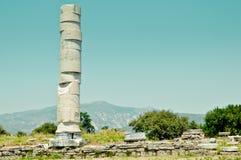 Ruinas antiguas, Heraion, Samos, Grecia Imágenes de archivo libres de regalías