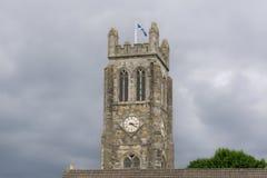 Ruinas antiguas Kilwinning Abbey Clock Tower Scotland Foto de archivo