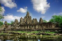 Ruinas camboyanas del templo Foto de archivo libre de regalías
